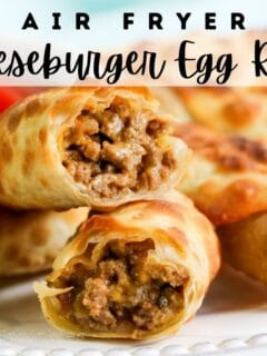 air fryer cheeseburger egg rolls pin