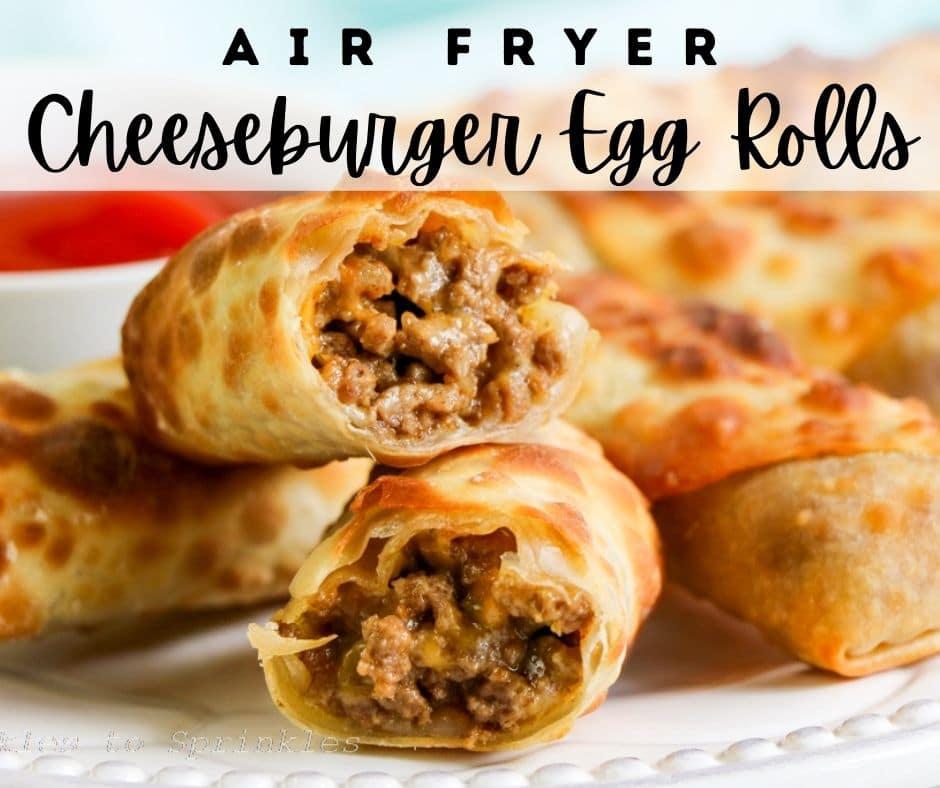 air fryer cheeseburger egg rolls pin