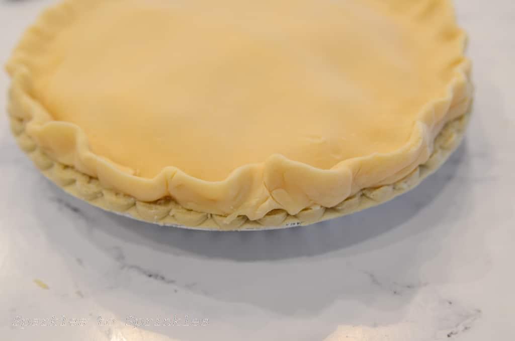 lay crust on top