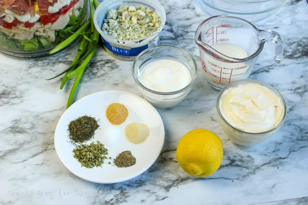 cobb salad trifle dressing ingredients