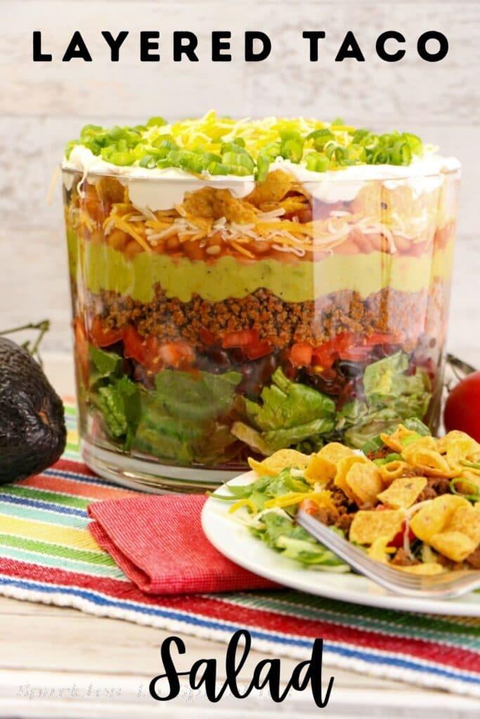 layered taco salad pin
