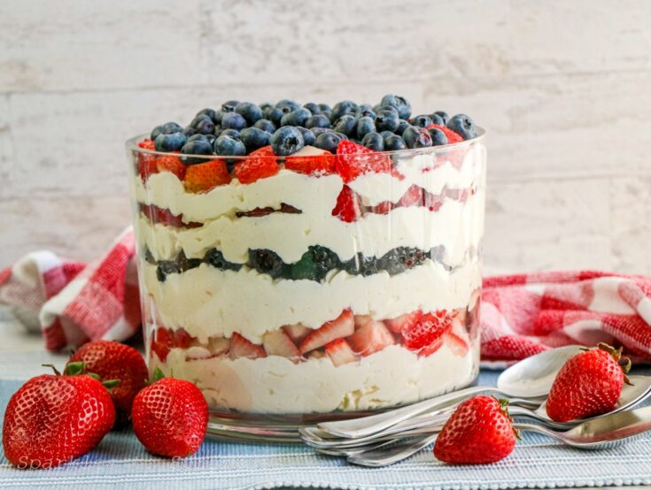 Red White Blue Berry Trifle-