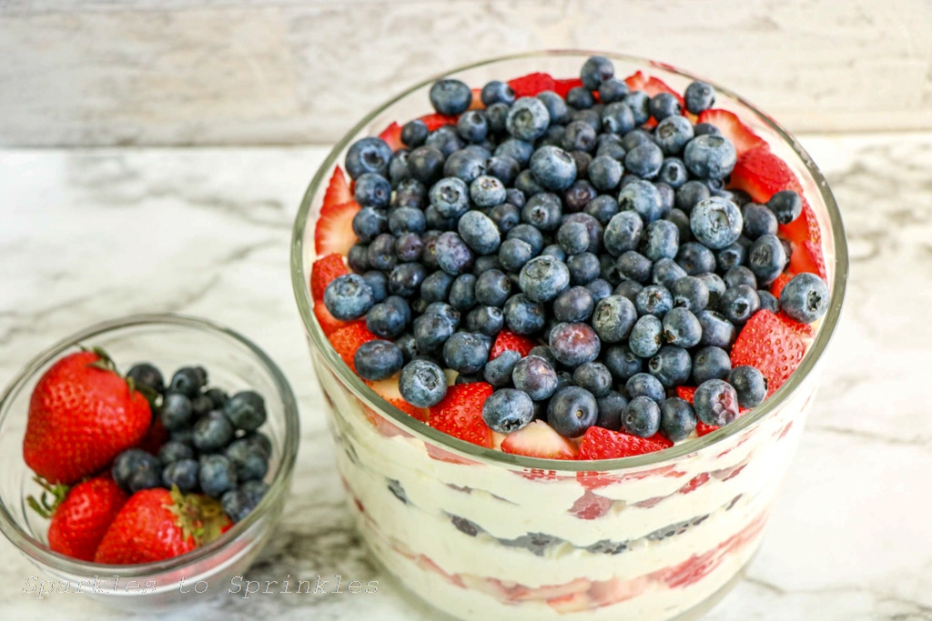 top with berries