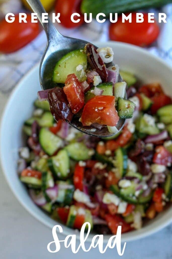 greek cucumber salad pin