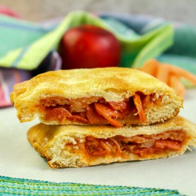 Air Fryer Crescent Pepperoni Pizza Pockets