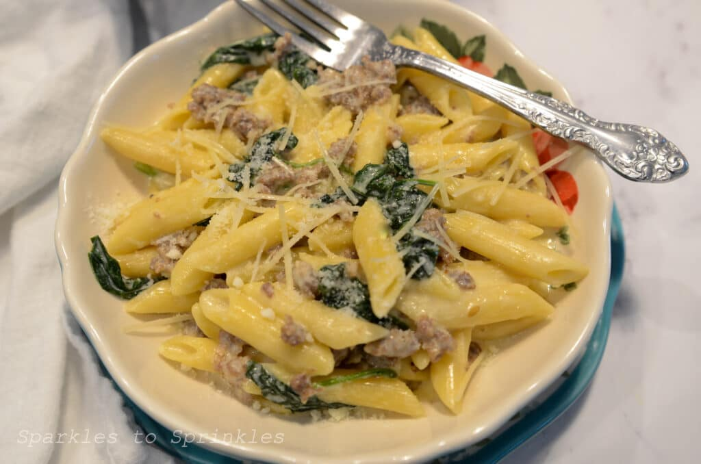 instant pot creamy sausage pasta