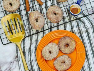 air fryer cinnamon sugar donuts