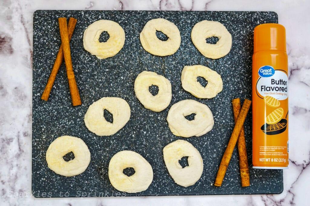 make donut shapes