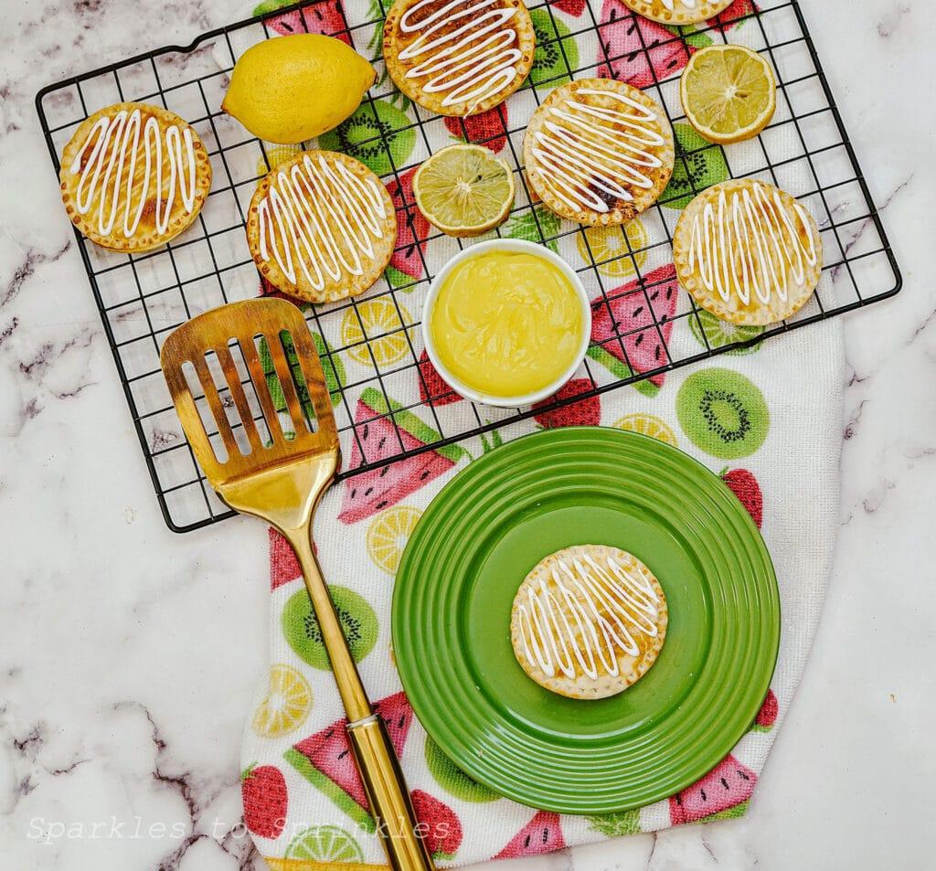 air fryer lemon hand pies