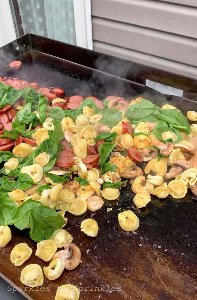 add in the spinach