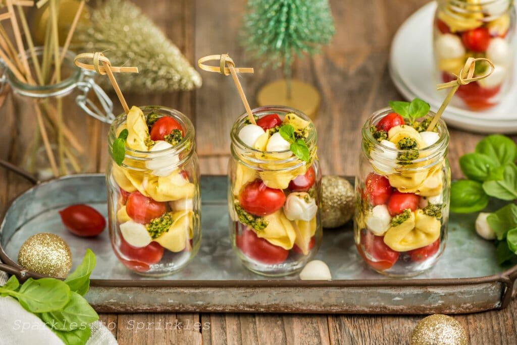 individual caprese salad