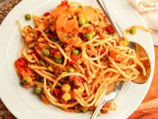 church supper spaghetti