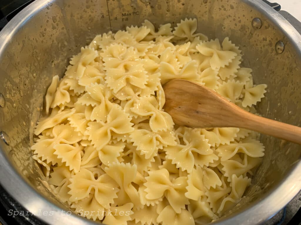 pour in cooked pasta