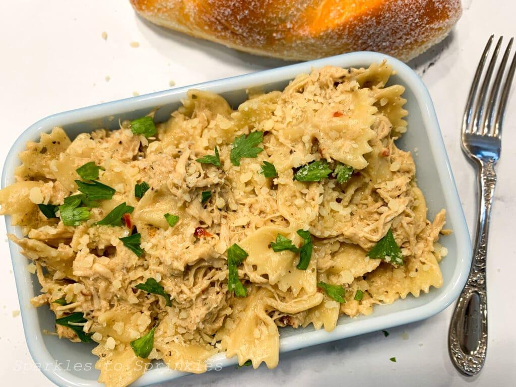 instant pot buffalo wild wings parmesan garlic chicken pasta